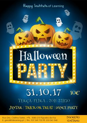 Cartaz da Festa de Halloween 2017